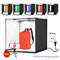 60*60 см 24 дюйма 60 Вт белое освещение фотобокс для фотографирования в форме палатки для студийной фотосъемки софтбокс с 6 Цвет декоративное фо...