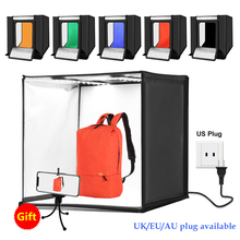 Buy 60*60cm 24 inch Portable Photo Studio Box Photography Softbox 60W White Lighting Studio Shooting Tent Box Kits 6 Color Backdrops directly from merchant!