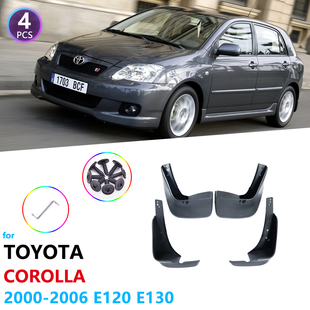 Mudguards for Toyota <font><b>Corolla</b></font> <font><b>E120</b></font> E130 2000 2001 2002 2003 2004 2005 2006 Car Accessories Fender Mudflaps Guard Splash Flaps Mud image
