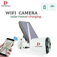 1080P WIFI IP caméra solaire extérieure faible puissance Rechargeable batterie caméra sécurité à la maison PIR étanche caméra avec panneau solaire