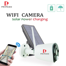 1080P WIFI IP Solar Camera Outdoor Lower Power Rechargeable Battery camera Home Security PIR Waterproof Camera with Solar panel