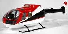 цена на 600 Size MBB BO-105 Glass Fiber Scale Fuselage For RC Helicopter Aircraft