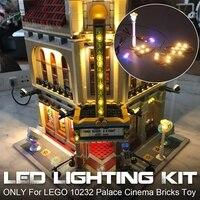 Led ライト照明キット 10232 用のためのクリエーター宮殿シネマビルディングブロックレンガのおもちゃ (モデル別売)