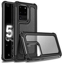 Funda protectora para Samsung Galaxy S20, S20 + Plus, S20 Ultra 5G, a prueba de golpes, resistente, antiarañazos, protección de cuerpo completo