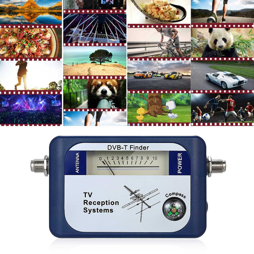 DVB-T الرقمية مكتشف اشارة الاقمار الصناعية الجوي الأرضي هوائي التلفزيون مع البوصلة التلفزيون استقبال أنظمة مع الطاقة كابل