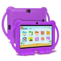 Tableta educativa de aprendizaje para niños XGODY, regalo para niños, tableta HD de 7 pulgadas con carcasa de silicona, carga USB Quad Core 1GB 16GB
