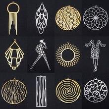 3 pçs/lote moda geométrica sun star brinco pingente atacado 100% aço inoxidável yoga dançarino flor da vida charme pingentes