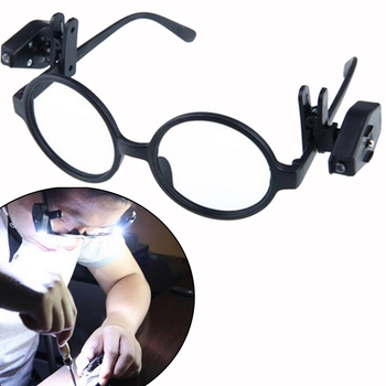 Portable Mini LED Light Glasses Made Of ABS Material For Night Book Reading And Tool Repair