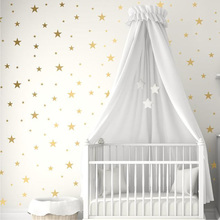 Gold Silver Stars Wall Stickers for Kids Room Baby Nursery Room Decoration DIY Art Stickers Wall Decals Home Decoration Bedroom