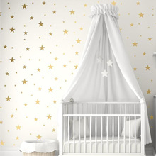 Gold Silver Stars Wall Stickers for Kids Room Baby Nursery Room Decoration DIY Art Stickers
