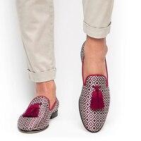 Männer Schuhe Niedrigen Ferse Fringe Schuhe Kleid Schuhe Brogue Schuhe Frühling Stiefeletten Vintage Klassischen Männlichen Casual HC511