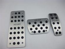 Pedal de embrague de aleación de aluminio de pie pedal de acelerador pedal de embrague en para volvo xc90 xc60 s40 s60 s80 c30 11 12 13 14 15 1set