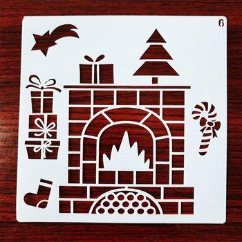 12 sztuk szablon szablonów świątecznych wielokrotnego użytku rzemiosło plastyczne na rysunek artystyczny Pai tanie i dobre opinie OOTDTY CN (pochodzenie) 8YY102191