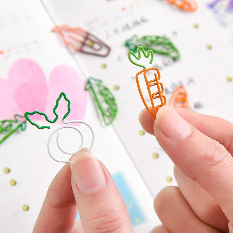 5 teile/los Karotte Form Papier Clip Lesezeichen Pin Schreibwaren Schule Bürobedarf