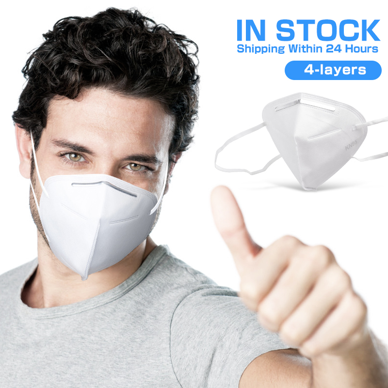4 Layer 95% Filtration KN95 Masks Anti  Dust Fog Smoke  Breathing Face Mouth Masks KN95mask Ffp2mask KN95ff2 KN95filter Kn 95