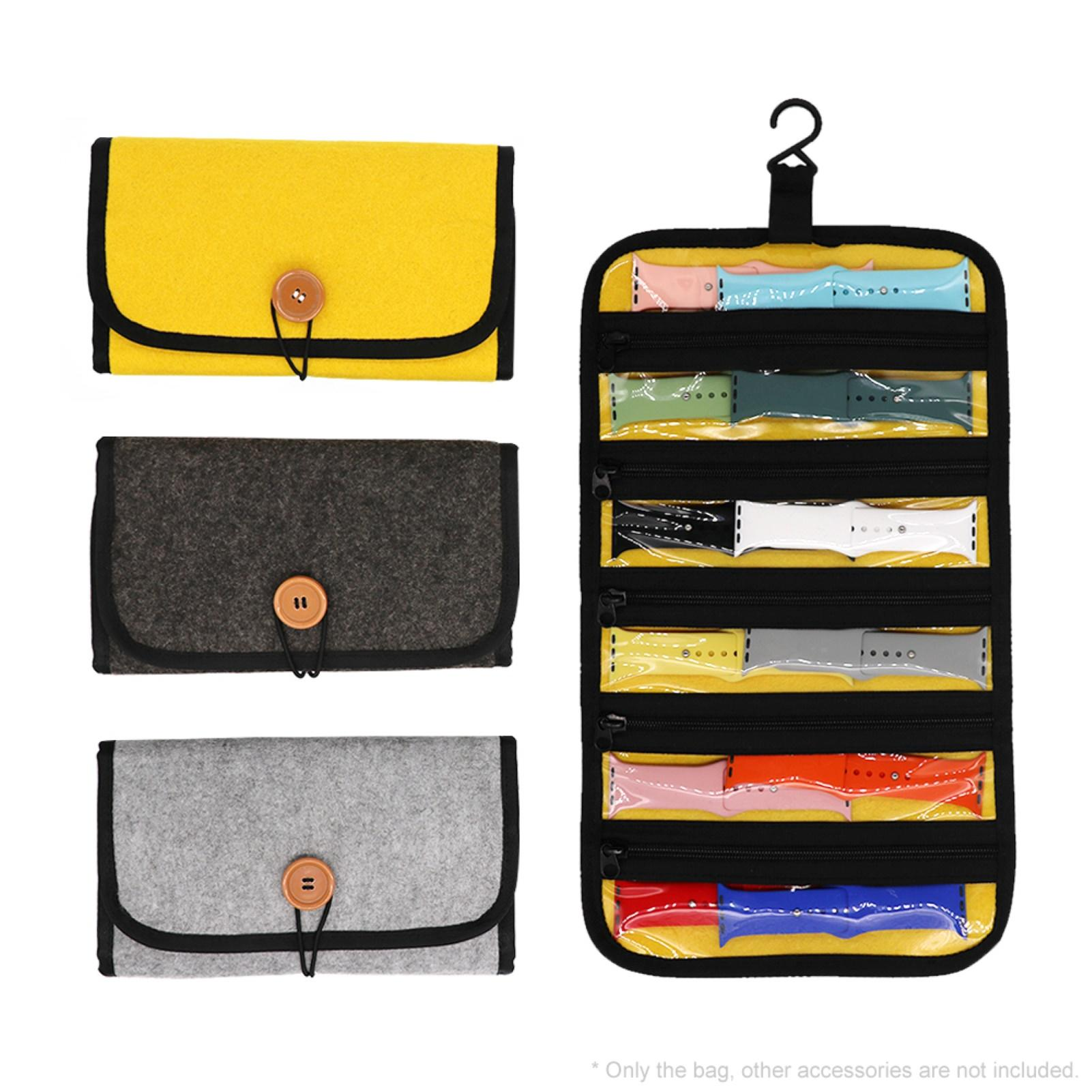 HOT SALES!!!New Arrival Portable Travel Watch Strap Hanging Storage Bag Pouch Watchband Case Organizer Wholesale Dropshipping