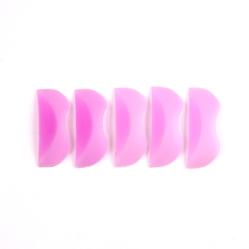 5 Pairs Of High QualityPink Soft Curl Silicone Shields Pads Eyelash Perm Pad Makeup Accessories For 3D Eyelash Design