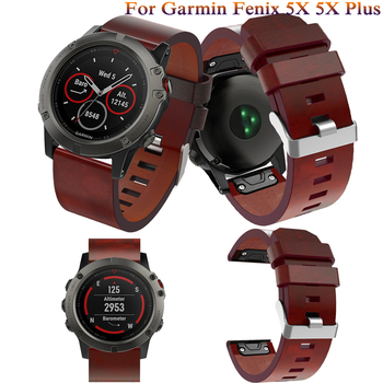 Leather wrist Watch Strap Easy fit quick Link Bracelet Belt 26MM For Garmin Fenix 3/ Fenix 5X fashion Smart Watch band wristband quick easy fit genuine leather watchband 26mm for garmin fenix 5x 3 3hr watch band stainless steel clasp strap wrist bracelet