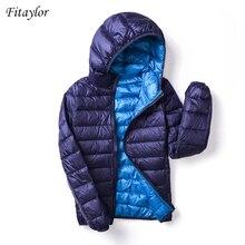 Fitaylor 2020 yeni sonbahar kış kadın Ultra hafif aşağı ceketler rahat çift taraflı geri dönüşümlü palto artı boyutu 4XL kadın dış giyim