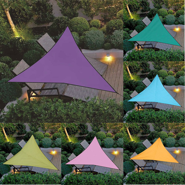 3/4m Canopy Cover Outdoor Trilateral Garden Yard Awnings Waterproof Sunshade Cloth VJ-Drop
