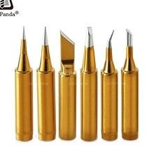 Ücretsiz kargo yüksek kalite yedek havya ucu Leader ücretsiz lehim ucu İç altın rengi tarafından satılan 1 adet