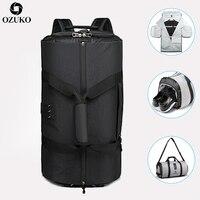 OZUKO Neue Hohe Kapazität Männer Reisetasche für Anzug Lagerung Reise Duffle Tasche mit Schuh Tasche Multifunktions Business Hand Gepäck tasche