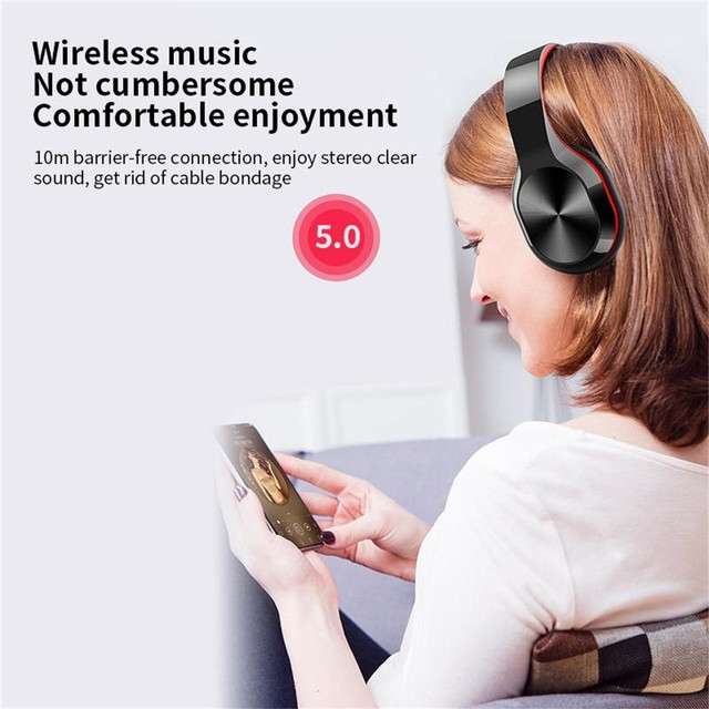 CARPRIE New Portable Wireless Headphones Bluetooth Stereo Foldable Headset Audio Mp3 Adjustable Earphones with Mic for Music 5