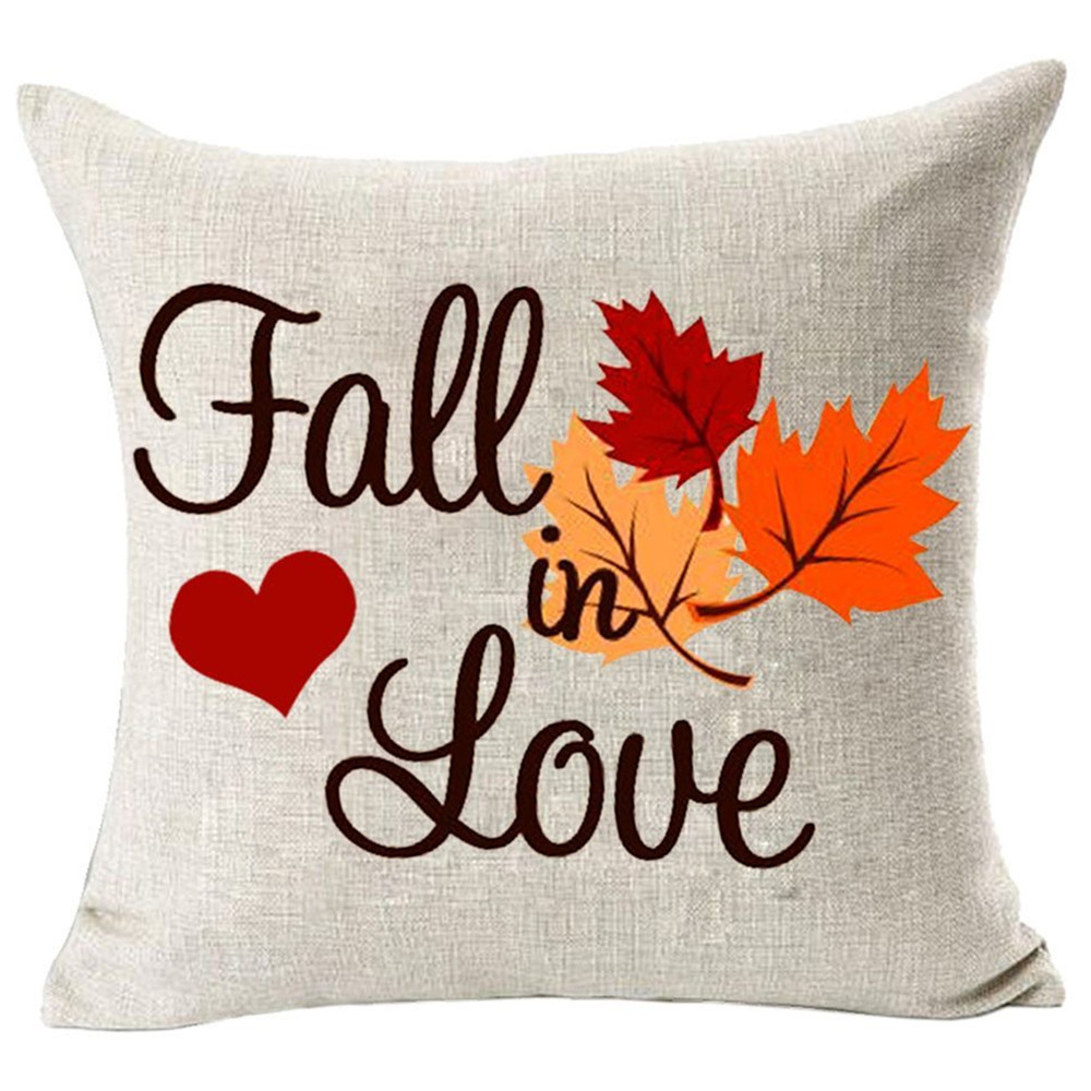 Federe Cuscini Love.Christmas 2019 Pillowcase Fall In Love Pillow Cases Autumn Room