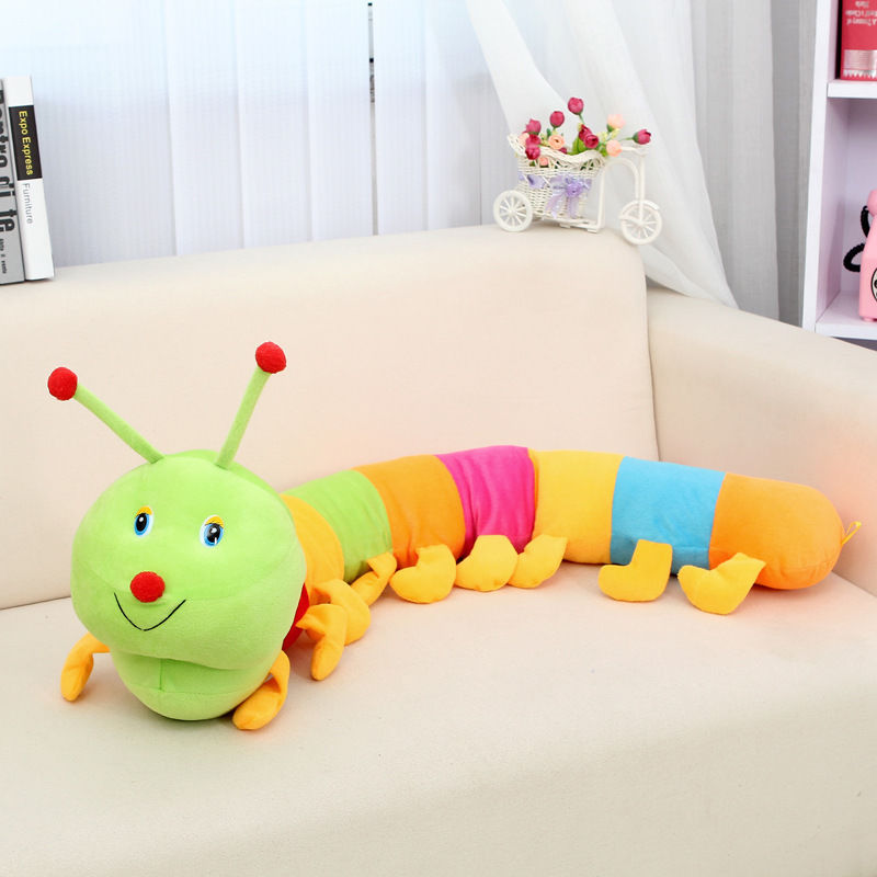 Kids Girl Boy Colorful Toy Plush Caterpillar Baby Toys Gift Pillow Home Decor