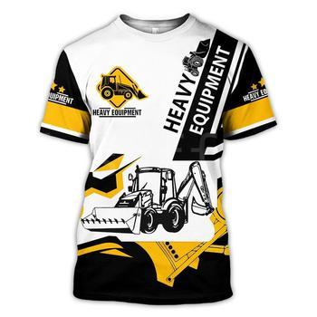 Tessffel Excavator Equipment Worker Machine Funny NewFashion Harajuku 3DPrint Unisex Summer T-shirts Short Sleeves Streetwear S4 1