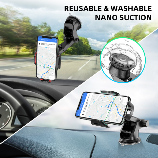 Windshield Gravity Sucker Car Phone Holder For Phone Universal Mobile Support For iPhone Smartphone 360 Mount Stand in Car 4