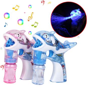 Flash Bubble Gun Kids Light Up Shooter LED Lights Party Bubbles Machine prezent z darmową wodą bąbelkową zabawa na świeżym powietrzu i sport zabawka dla dzieci tanie i dobre opinie Liplasting CN (pochodzenie) Z tworzywa sztucznego Pistolet bańki 13-24 miesięcy 2-4 lat 5-7 lat 8-11 lat 12-15 lat Unisex