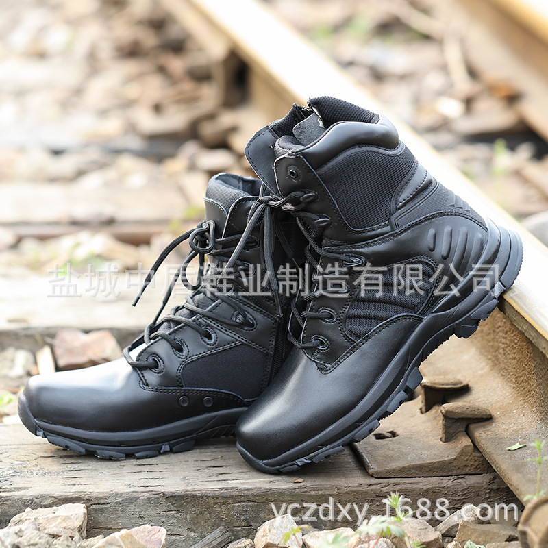 Ultra-Light Combat Boots CQB. Swat Fox Hunting Lightweight Combat Boots Shock Absorption Hight-top Outdoor Tactical Boots Combat