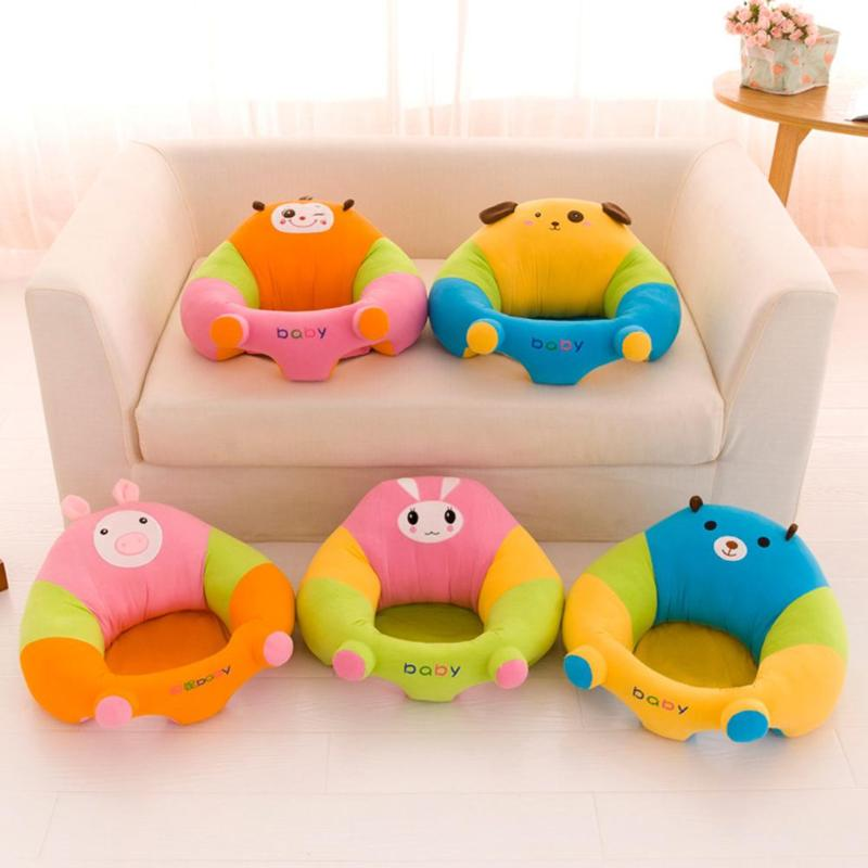 Cute Baby Sofa Support Seat Cover Learning To Sit Chair Washable Cover Without Filler Without Cotton Kid Cute Animal Shape Sofa