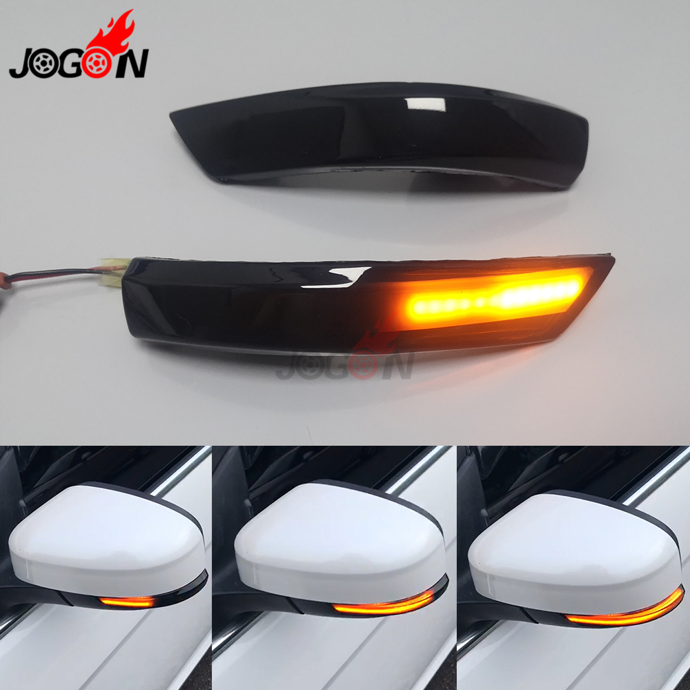 For Ford Focus 3 MK3 3.5 MK3.5 2011-2018 LED Dynamic Turn Signal Light Side Wing Mirror Indicator Sequential Blinker Lamp Trim