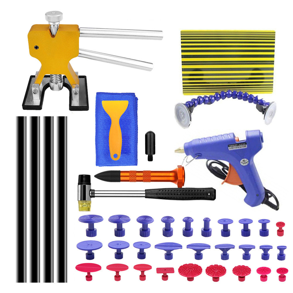 PDR Tools Kit Car Dent Repair Paintless Dent Repair Tools  Reflector Board Dent Puller For Remove Dents Pdr Glue For Auto Body