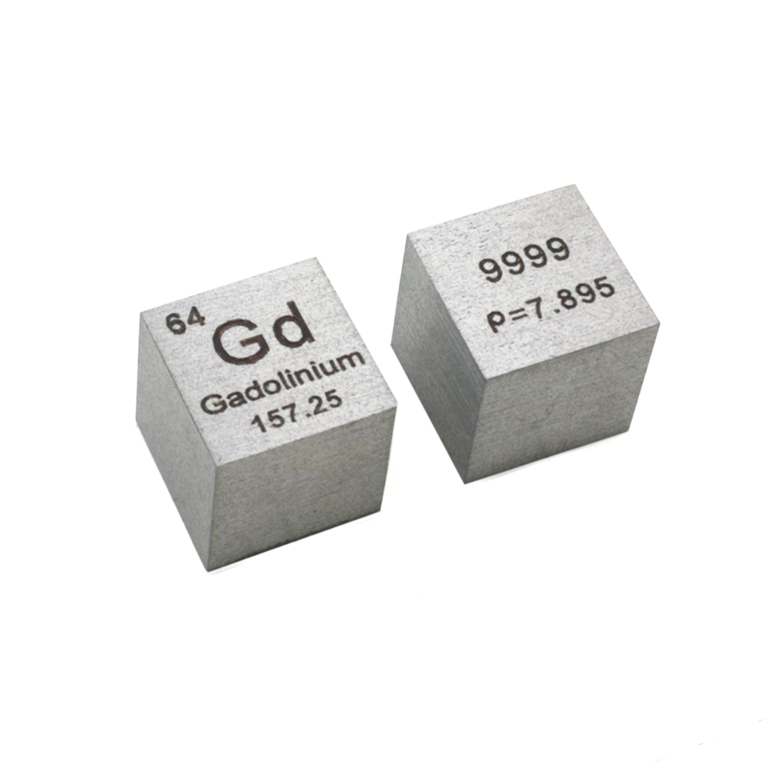 10 X 10 X 10mm (Gd≥99.99%) Wiredrawing Metal Gadolinium Cube Rare Earth Elements Cube Periodic Table Of Elements Cube