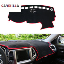Car Dashboard Cover Avoid Light Pad Instrument Platform Cover Mat Carpet Accessories for Jeep Compass 2th 2017-2020 LHD