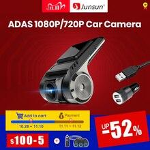 Para junsun v1/v1 pro android multimídia player rádio com adas carro dvr camerd traço cam 720p/1080p