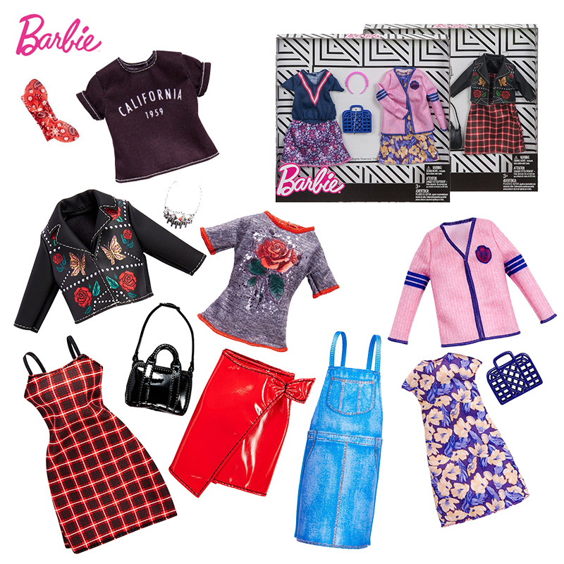Barbie Original Mix Dolls Fashion Clothe Outfits Dress Elega Doll Shoes Set Toys For Girls Children Accessories Play House Party