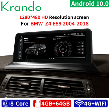 KRANDO Android 9.0 4+32gb 4G 10.25'' car audio player for BMW Z4 E85 E89 2004-2018 gps navigation multimedia system image