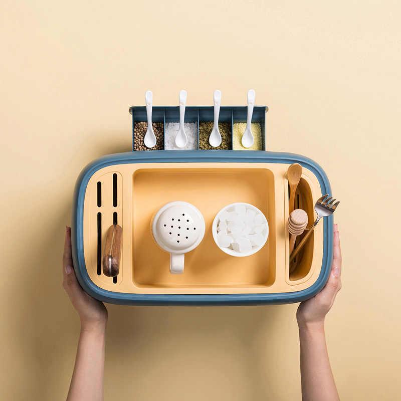 Scatola condimento Scatola Condimento Scatola Di Immagazzinaggio Per La Casa Utensili Da Cucina Condimento Pot Pot Condimento Bottiglia Set di Coltelli Titolare