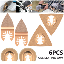 Popular 6 pcs Oscillating Saw Multi Tool Blades For Renovator Power Tools as Electric tools Accessories