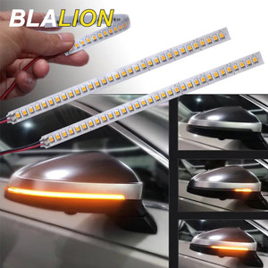 Image 1 - 2Pcs ไฟเลี้ยวคำเตือน Strip Universal รถกระจกมองหลังตัวบ่งชี้โคมไฟลำแสง Strip Auto Flowing LED Light