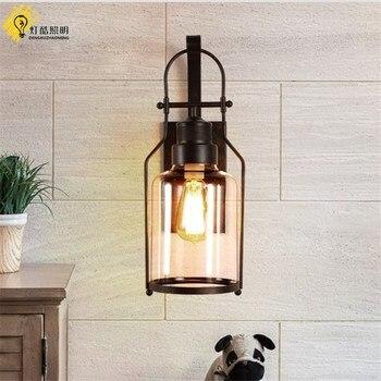 Современный настенный светильник металлический светодиодный настенный светильник для дома/ванной комнаты/спальни/гостиной Декор стеклян...