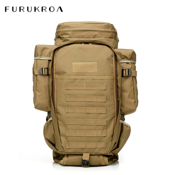 70L Large Capacity Oxford Backpack Men Pack For Hunting Shooting Camping Hiking Outdoor Waterproof Climbing Bags X31B