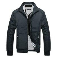 Лидер продаж 2020, мужские одноцветные Классические Куртки-бомберы больших размеров, Мужская демисезонная верхняя одежда, мужская ветровка, ...