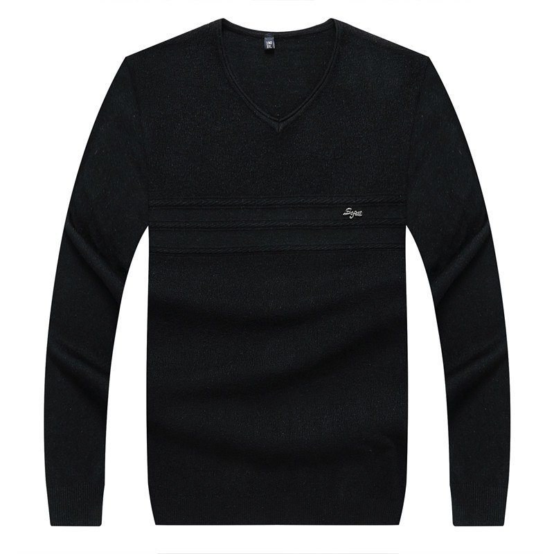 8XL 6XL Brand Casual Sweater V-Neck Striped Slim Fit Men Long Sleeve Patchwork Male Pollover Sweater Thin Clothes Agasalho Masc