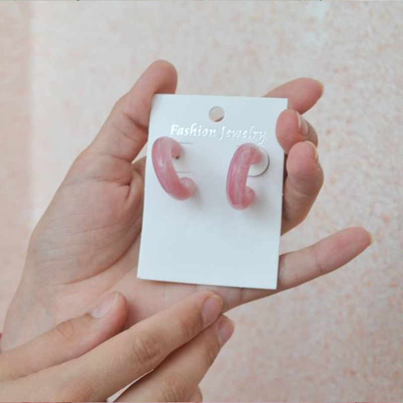 AMORCOME Fashion Women'S Earrings 2019 Acrylic/Vintage Earrings Woman Resin Hoop Earrings Fashion Jewerlry 2019 Women Accesories