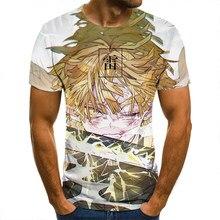 Koszulka 3D Demon Slayer Thunder koszulki mężczyźni kobiety dzieci z krótkim rękawem fajne koszulki moda w stylu Casual, letnia chłopiec dziewczyna dzieci Streetwear